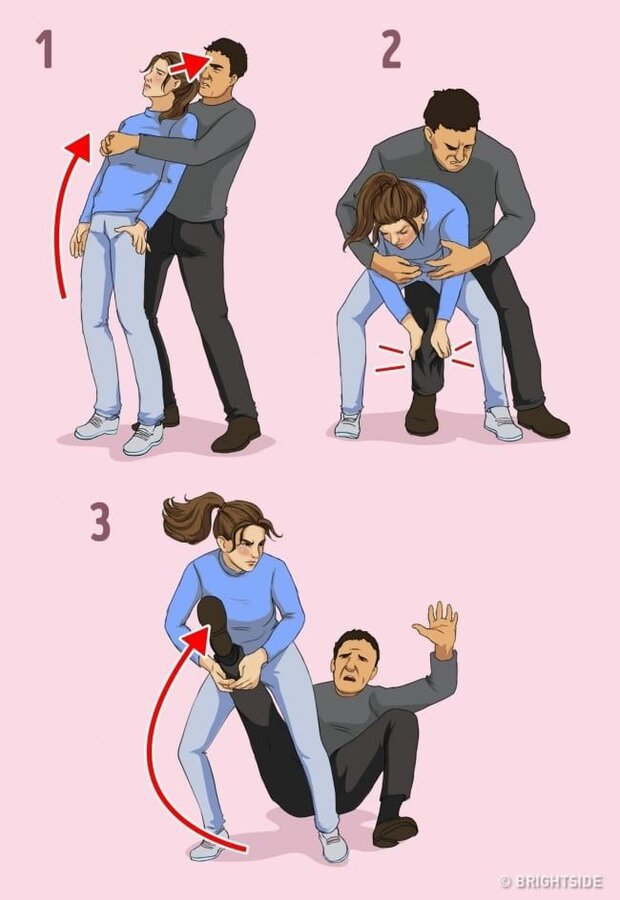 001_7 Self-Defense Techniques for Women Recommended by a Professional Hayatta Kalma Ipuçları, ...jpg