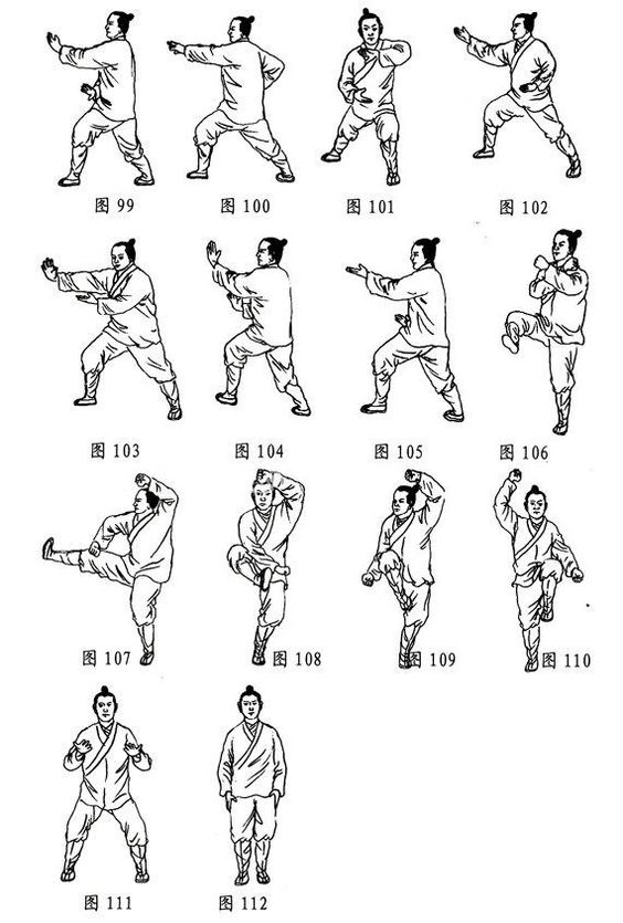All for Kung Fu, Tai Chi & Martial Arts — Traditional Chinese Tai Chi Chuan Movements Fresco S...jpg