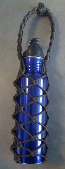 Paracord wrap bottle _ great tutorial plus interesting knots = project for a motivated Boy Sco...jpg
